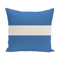 Narrow The Gap Stripe Print Throw Pillow