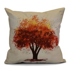 Flipping for Fall Bounty Floral Outdoor Throw Pillow