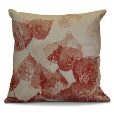 Flipping for Fall Memories Floral Outdoor Throw Pillow