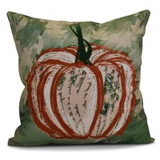 Flipping for Fall Artistic Pumpkin Geometric Outdoor Throw Pillow