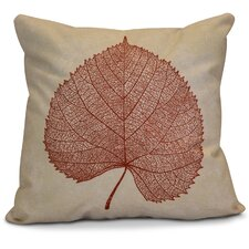 Flipping for Fall Leaf Study Floral Outdoor Throw Pillow