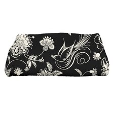 Holiday Wishes Traditional Bird Floral Bath Towel