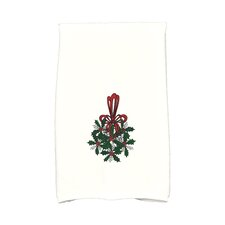 Holiday Wishes Traditional Mistletoe Hand Towel