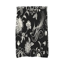 Holiday Wishes Traditional Bird Floral Hand Towel