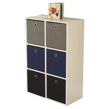 """Storage Case with 6 Bins 33"""" Standard Bookcase"""