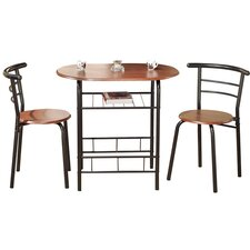 Bistro 3 Piece Compact Dining Set