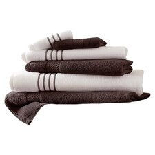 Egyptian Cotton 6 Piece Striped Towel Set