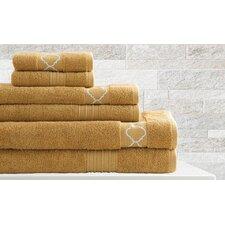 6 Piece Quatrefoil Egyptian Quality Cotton Towel Set