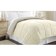 Sanctuary by PCT Down Alternative Reversible Comforter in Ivory & Atmosphere