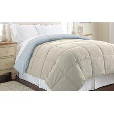 Sanctuary by PCT Down Alternative Reversible Comforter in Oatmeal & Dusty Blue