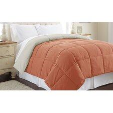 Sanctuary by PCT Down Alternative Reversible Comforter in Orange & Oatmeal