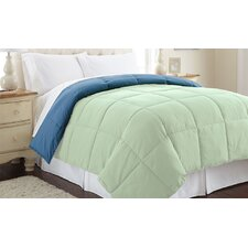Sanctuary by PCT Down Alternative Reversible Comforter in Misty Jade & Seaport