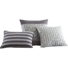 Mandalay Bay 3 Piece Mercer Jacquard Decorative Cotton Breakfast and Throw Pillow Set