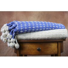 Cross Stitch Cotton Throw Blanket