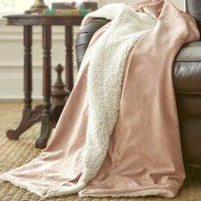 Sherpa Micro Mink Reverse Throw Blanket