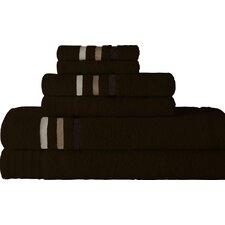 Jewel Tone Ombre Stripe 6 Piece Towel Set