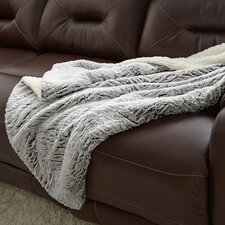 Sherpa Reverse Throw Blanket