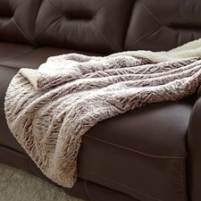 Sherpa Reverse Throw Blanket