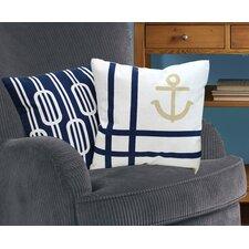 Nautical Cotton Throw Pillow (Set of 2)