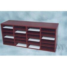 24 Compartment Laminate Literature Organizer