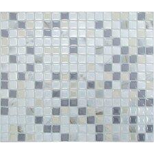 """Mosaik Minimo Noche 11.55"""" x 9.64"""" Peel & Stick Wall Tile in Pearl, Gray & Beige"""