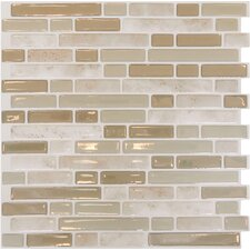 "Mosaik Bellagio Sabbia 10.06"" x 10.00"" Peel & Stick Wall Tile in Light Beige & Ivory"