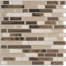 "Mosaik Bellagio Bello 10.6"" x 10"" Peel & Stick Wall Tile in Beige & Ivory"