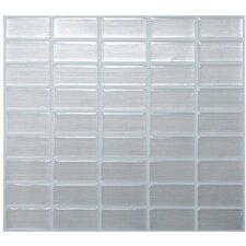 "Mosaik Stainless 10.61"" x 10.00"" Peel & Stick Wall Tile in Gray Metallic Reflect"