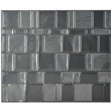 "Mosaik Tango Onyx 11.55"" x 9.64"" Peel & Stick Wall Tile in Light & Medium Gray"