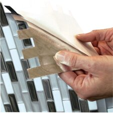 "Smart Edge 0.27"" x 18"" Peel & Stick Finishing Trim in Silver"