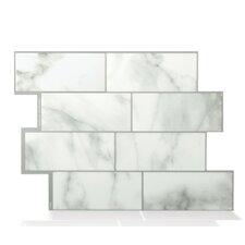 """Metro Carrera 11.56"""" x 8.38"""" Peel & Stick Wall Tile in Marble Gray"""