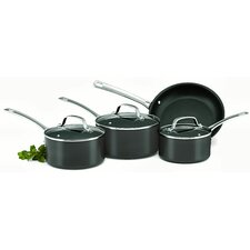 Genesis Plus 4 Piece Non Stick Hard Anodised Stainless Steel 4 Cookware Set