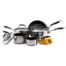 Circulon 5-Piece Non-Stick Stainless Steel Cookware Set