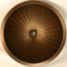 Bronze Large Round Fluted Bathroom Sink