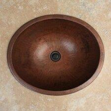 Oval Drop-In Bathroom Sink