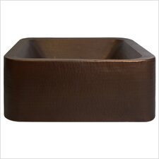 Large Square Double Wall Vessel Bathroom Sink