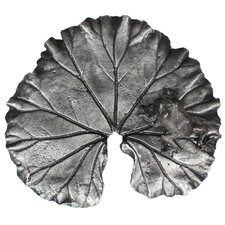 Metal Large Leaf with Frog