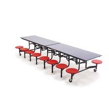 "30'' x 145"" Rectangular Cafeteria Table"