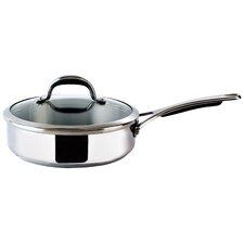 24cm Stainless Steel Sauté Pan with Lid