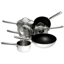 Meyer 6-Piece Non-Stick Stainless Steel Cookware Set