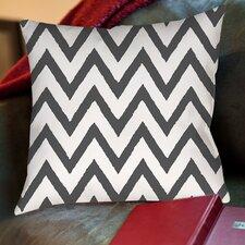Zig Zag Printed Throw Pillow