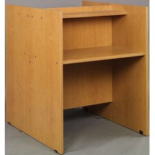 Library Wood Double Face Study Carrel Desk