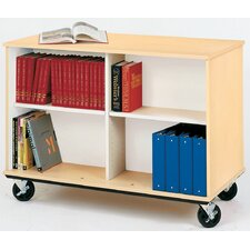 Mobiles Double-Sided Book Cart