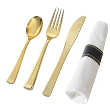Golden Secrets 280 Piece Flatware Set