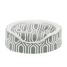 Miley Fretwork Oval Cuddler Dog Bed with Cushion