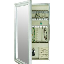 Tiffany Wall Mounted Jewelry Armoire with Mirror