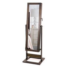 Trinity Cheval Jewelry Armoire with Mirror