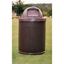 32-Gal Trash Receptacle with Dome Lid