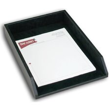 1000 Series Classic Leather Front-Load Legal Tray in Black