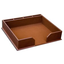3200 Series Leather Conference Pad Holder in Rustic Brown